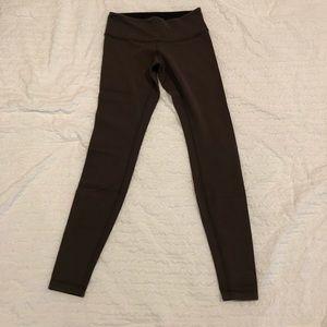 Lululemon REVERSIBLE wunder under pantsbrown/black